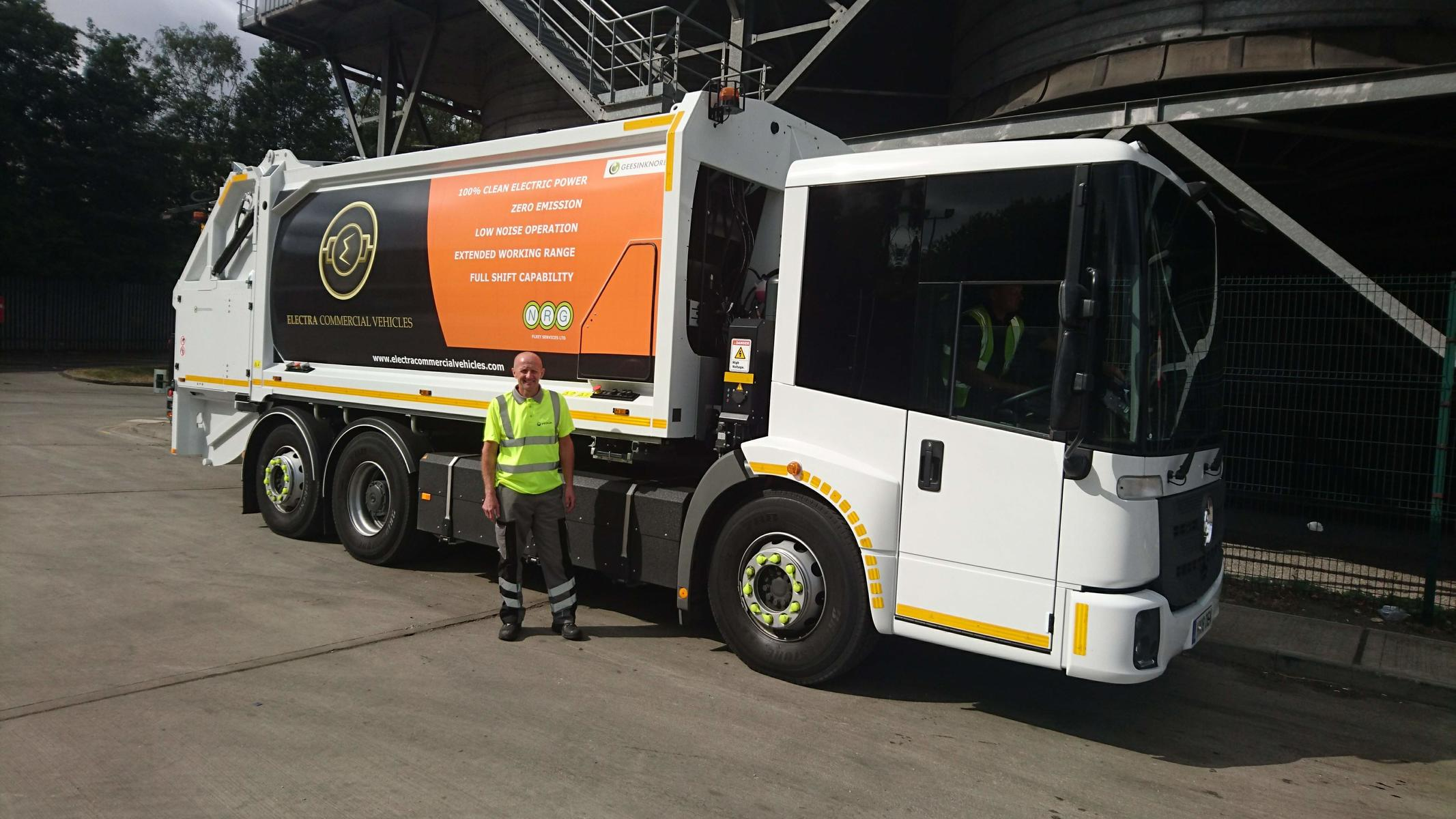 Veolia to trial electric Refuse Collection Vehicles